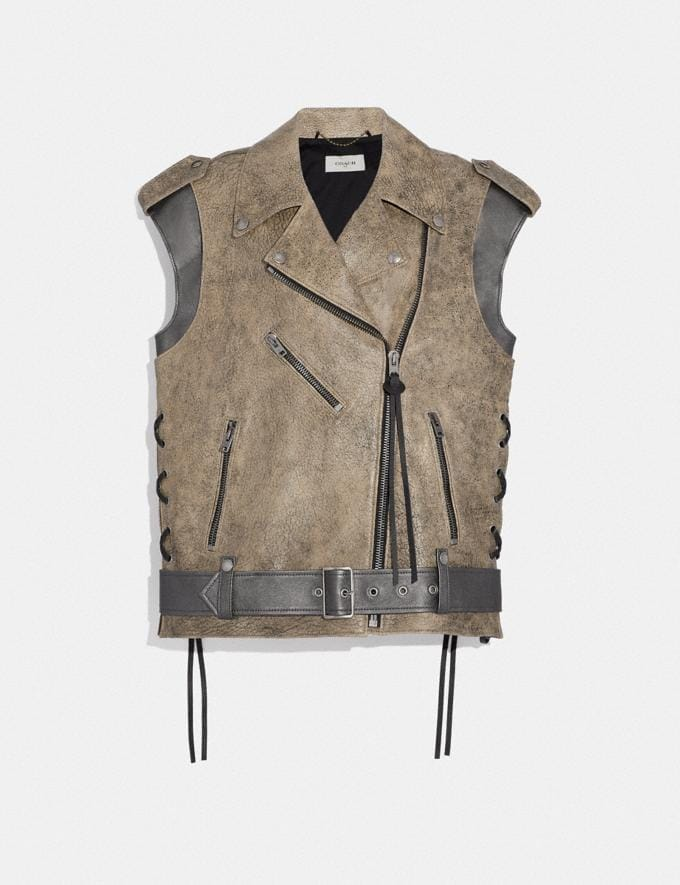 Coach Moto Vest Limestone SALE Women's Sale Ready-to-Wear