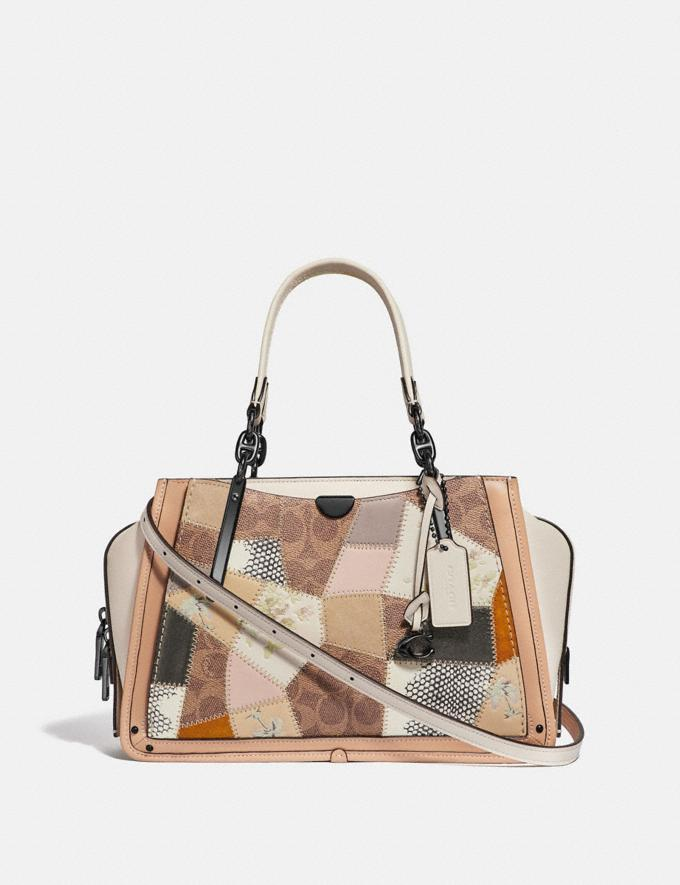 Coach Dreamer With Signature Patchwork Tan Beechwood Multi/Pewter Women Bags Satchels & Carryalls