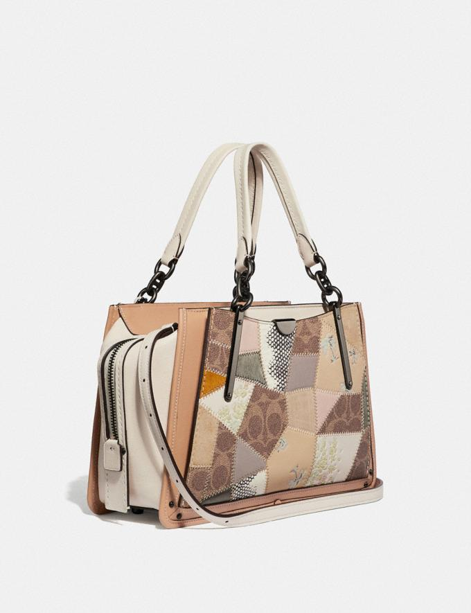 Coach Dreamer With Signature Patchwork Tan Beechwood Multi/Pewter Women Bags Satchels & Carryalls Alternate View 1