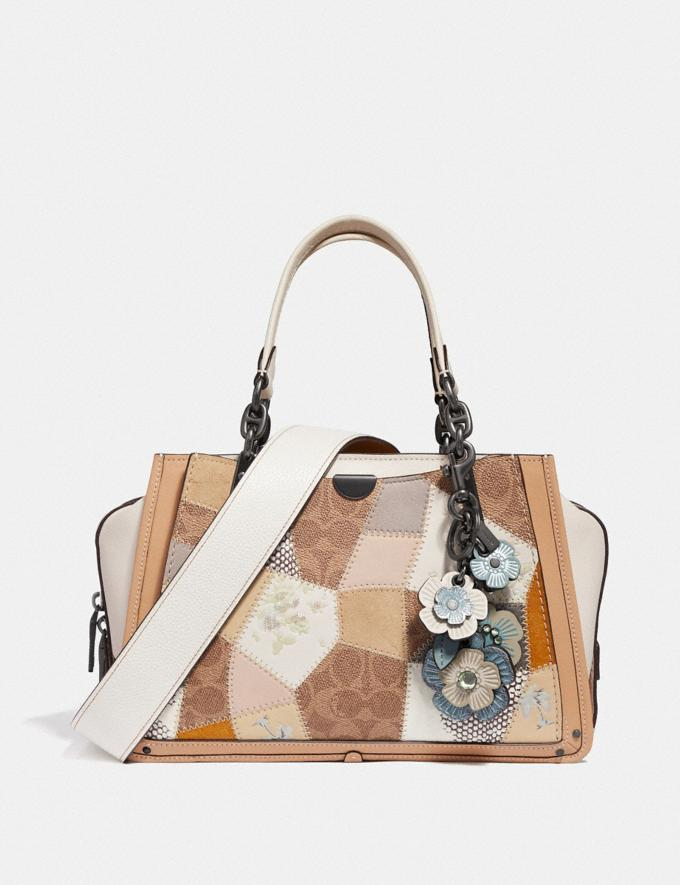 Coach Dreamer With Signature Patchwork Tan Beechwood Multi/Pewter Women Bags Satchels & Carryalls Alternate View 3