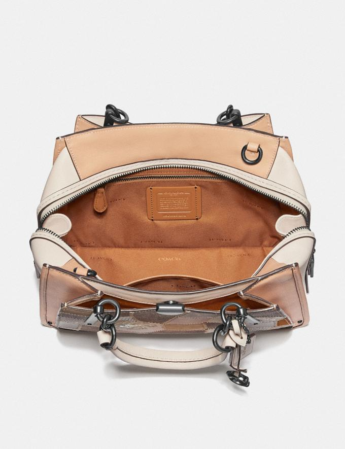 Coach Dreamer With Signature Patchwork Tan Beechwood Multi/Pewter Women Bags Satchels & Carryalls Alternate View 2