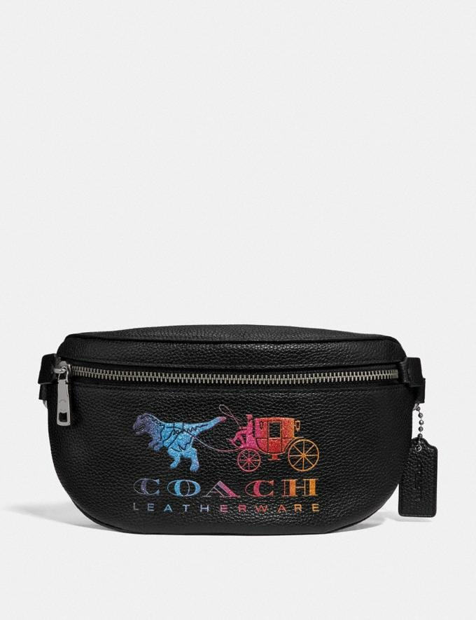Coach Belt Bag With Rexy and Carriage Black Multi/Gunmetal Gifts For Her