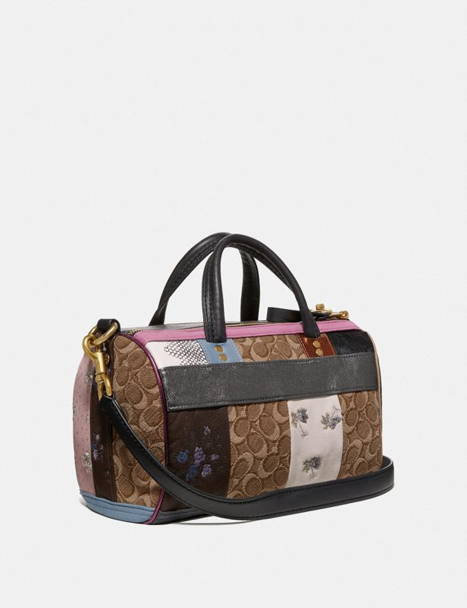 Coach Shuffle in Signature Jacquard Tan Black/Brass Women Collection Signature Styles Alternate View 1