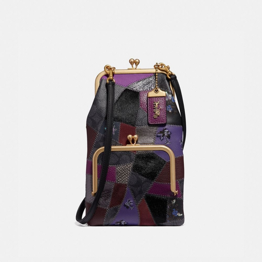 Coach Double Frame Crossbody With Signature Patchwork