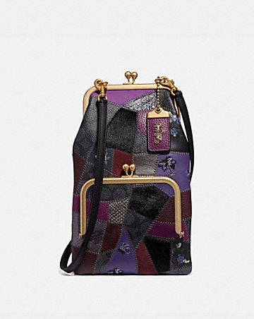 ac84afb52e DOUBLE FRAME CROSSBODY WITH SIGNATURE PATCHWORK ...