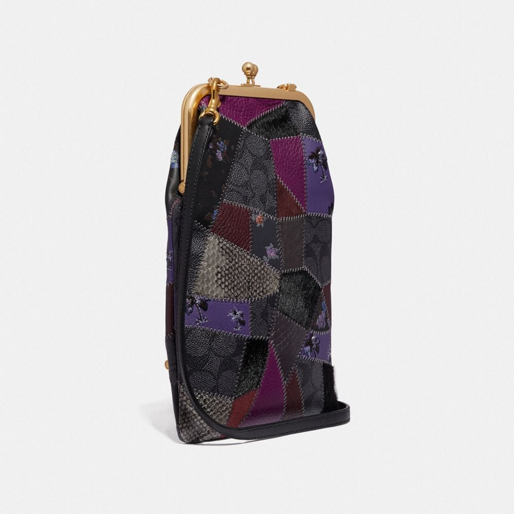 Coach Double Frame Crossbody With Signature Patchwork Alternate View 1