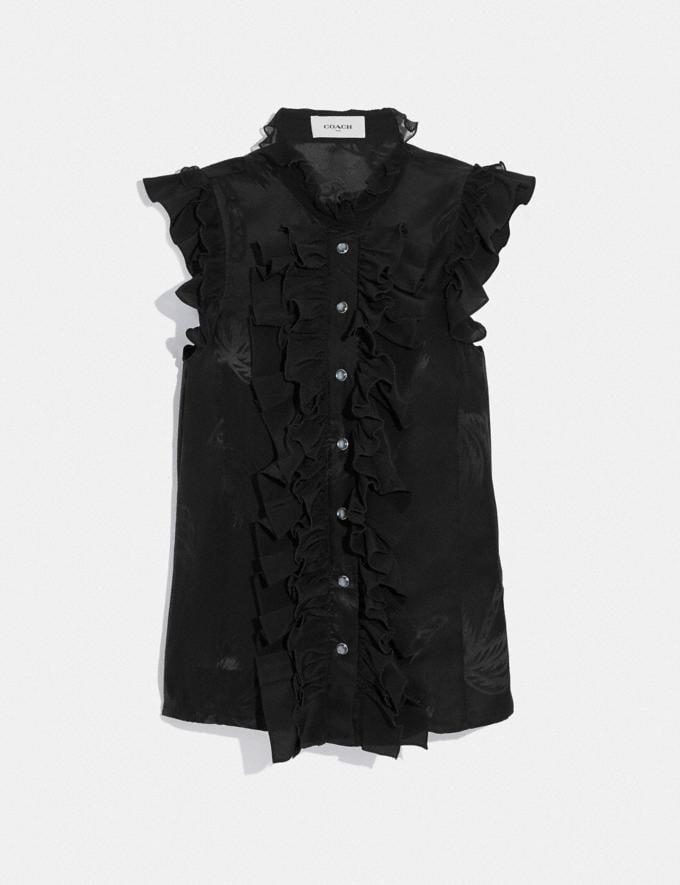 Coach Decadence Sleeveless Top Black SALE Women's Sale Ready-to-Wear