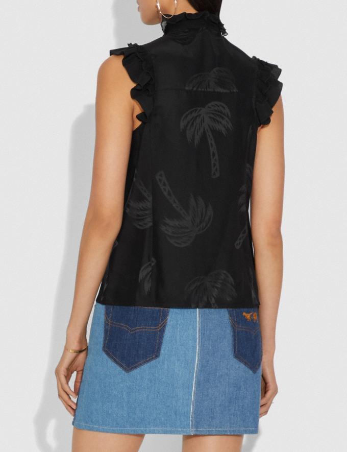 Coach Decadence Sleeveless Top Black SALE Women's Sale Ready-to-Wear Alternate View 2