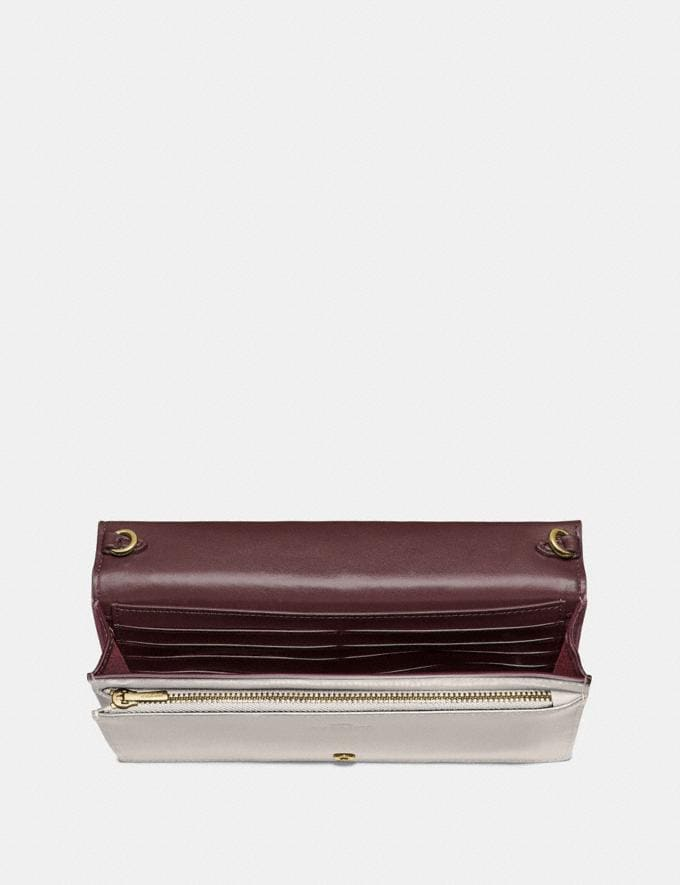 Coach Hayden Foldover Crossbody Clutch Gold/Beechwood Women Handbags Crossbody Bags Alternate View 3