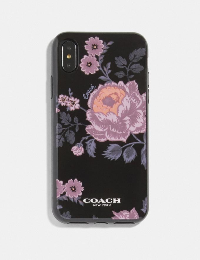 Coach iPhone X/Xs Case With Floral Print Multi/Black Women Accessories Tech & Work
