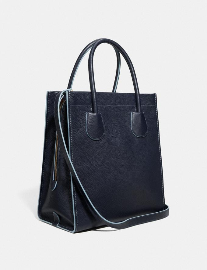 Coach Cashin Carry Tote 29 B4/Midnight Navy Women Bags Totes Alternate View 1