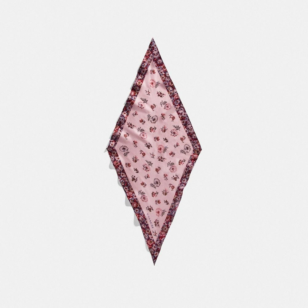 prairie floral print silk diamond