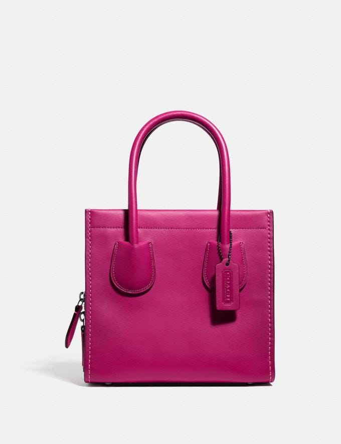 Coach Cashin Carry Tote 22 Pewter/Cerise New Featured The Coach Originals