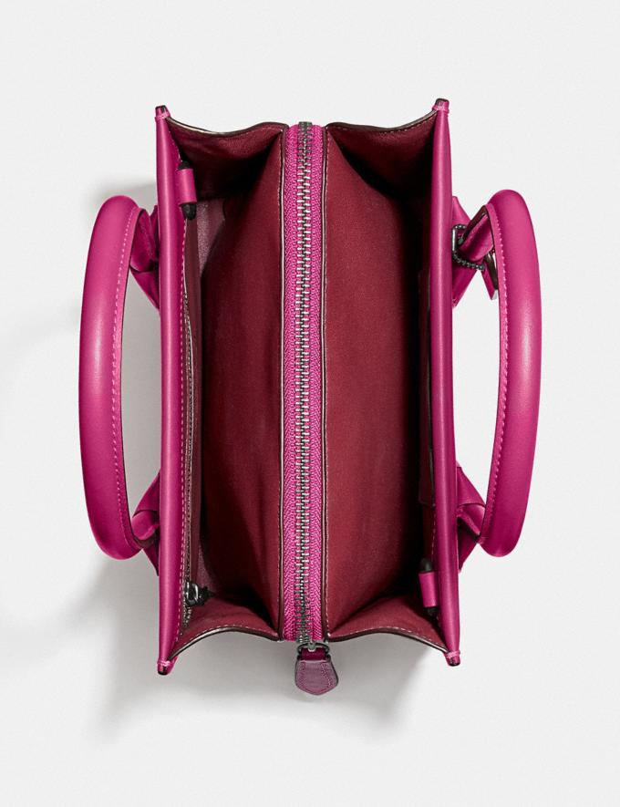 Coach Cashin Carry Tote 22 Pewter/Cerise Women Handbags Totes & Carryalls Alternate View 2