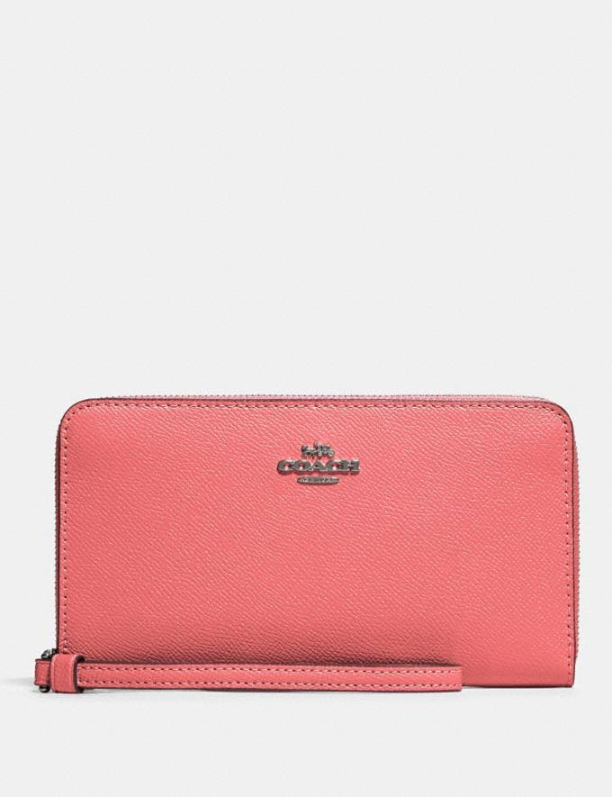 Coach Large Phone Wallet Qb/Pink Lemonade