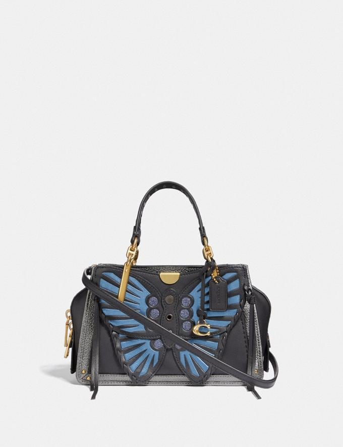Coach Dreamer 21 With Whipstitch Butterfly Black Multi/Brass