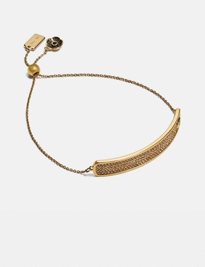 Coach Pave Slider Bracelet Silver/Silver Women Accessories Jewellery Bracelets