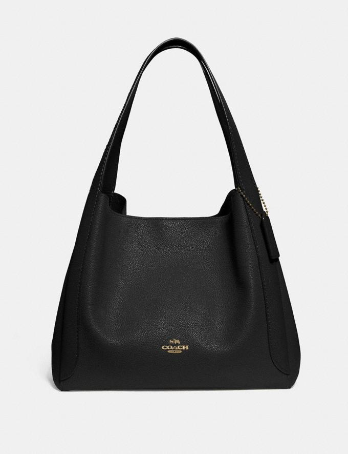Coach Hadley Hobo Black/Gold New Women's New Arrivals