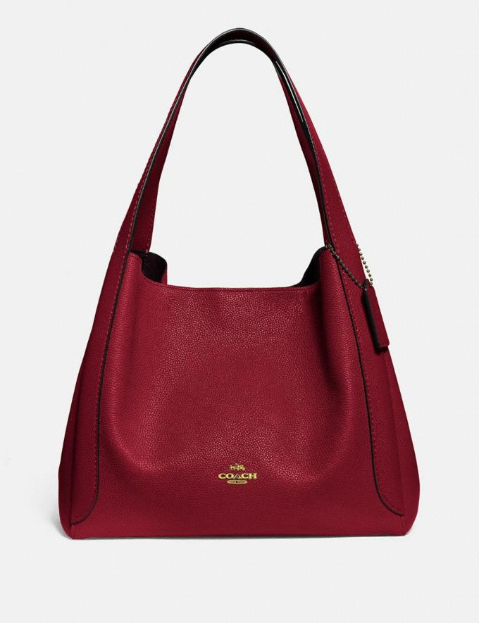 Coach Hadley Hobo Gold/Deep Red Gifts For Her Bestsellers