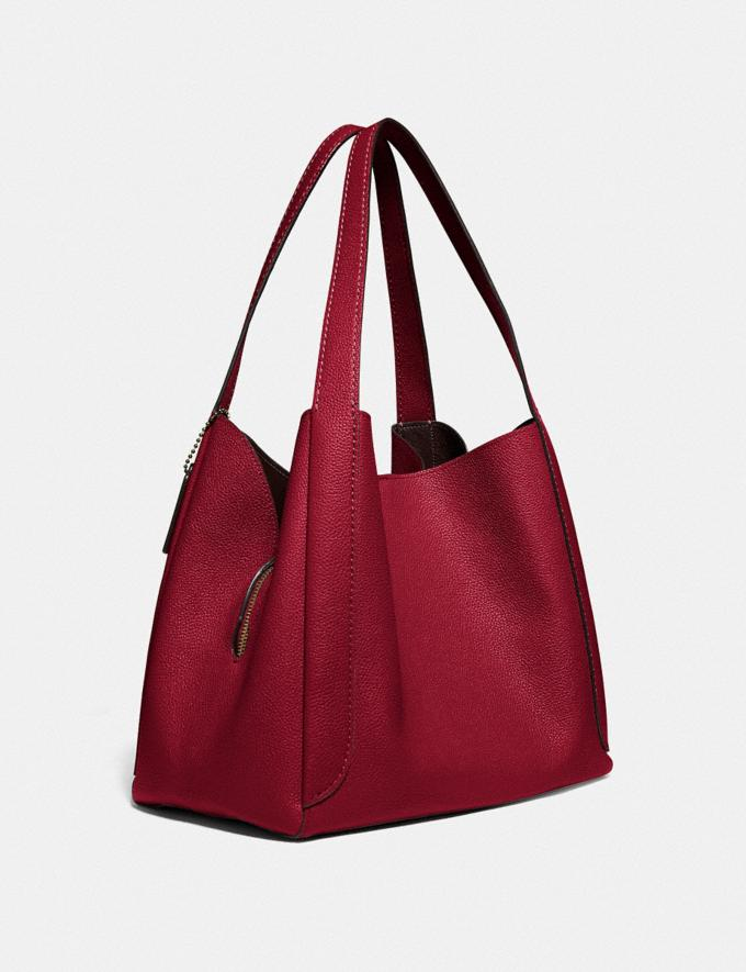 Coach Hadley Hobo Gold/Deep Red Gifts For Her Bestsellers Alternate View 1