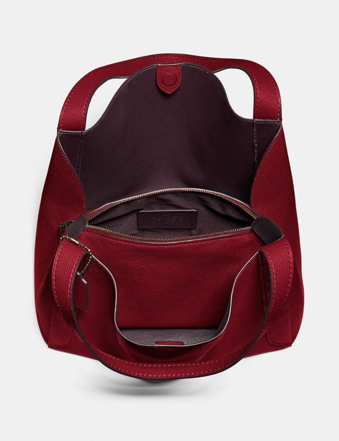 Coach Hadley Hobo Gold/Deep Red Gifts For Her Bestsellers Alternate View 2