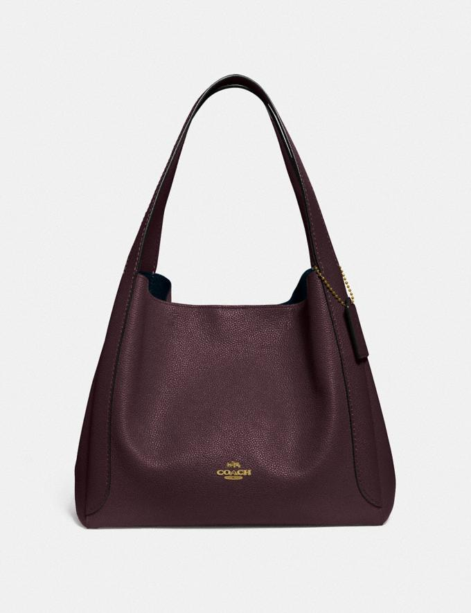 Coach Hadley Hobo Gd/Oxblood New Women's New Arrivals