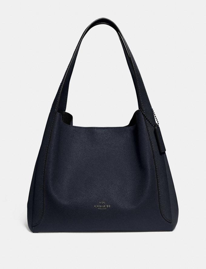 Coach Hadley Hobo Gunmetal/Midnight Navy Women Bags Shoulder Bags