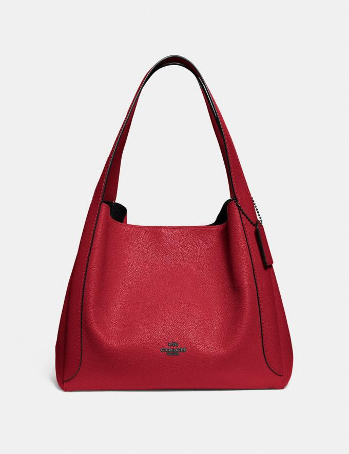 Coach Hadley Hobo Red Apple/Gunmetal SALEDDD Women's Sale New to Sale New to Sale