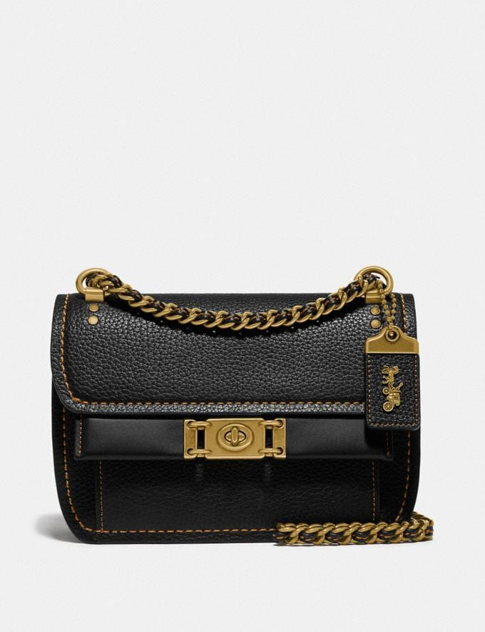 Coach Troupe Crossbody Black/Brass New Women's New Arrivals
