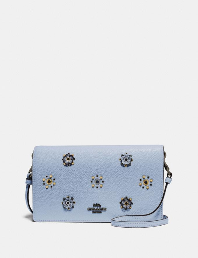 Coach Hayden Foldover Crossbody With Scattered Rivets Pewter/Mist Women Bags Crossbody Bags