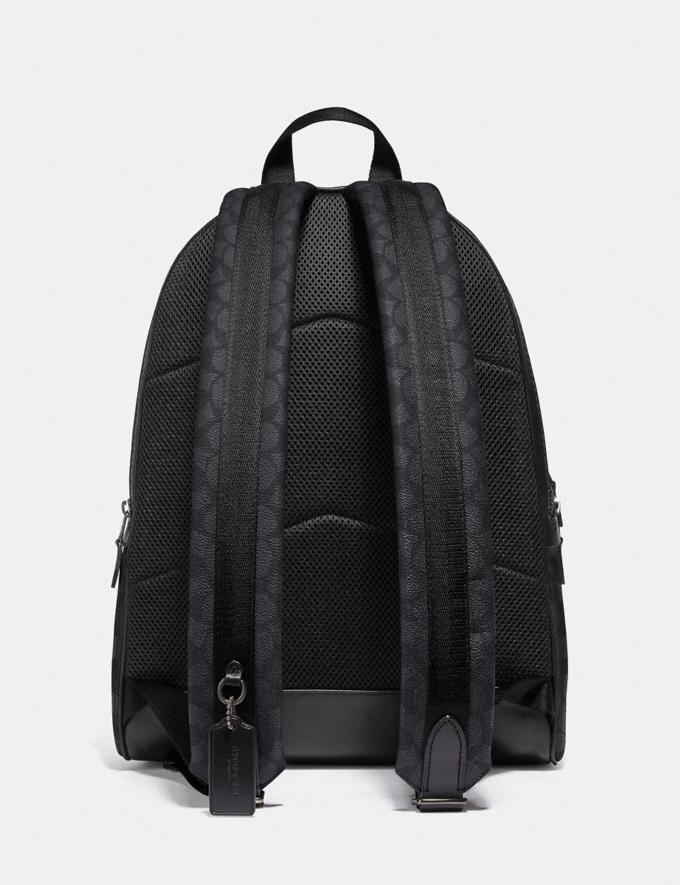 Coach Academy Backpack in Signature Canvas Charcoal/Black Antique Nickel Men Bags Backpacks Alternate View 2