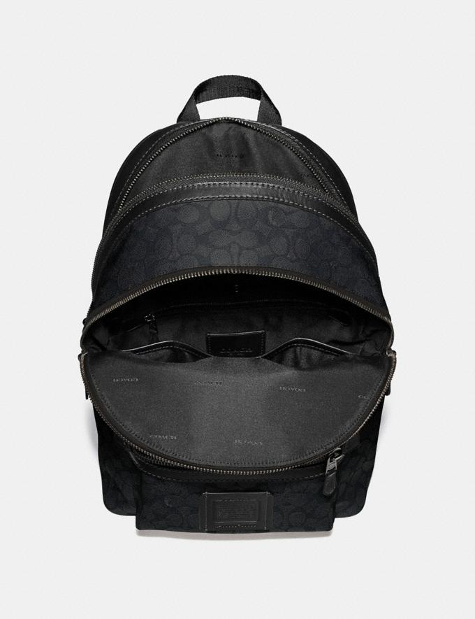 Coach Academy Backpack in Signature Canvas Charcoal/Black Antique Nickel Men Bags Backpacks Alternate View 3
