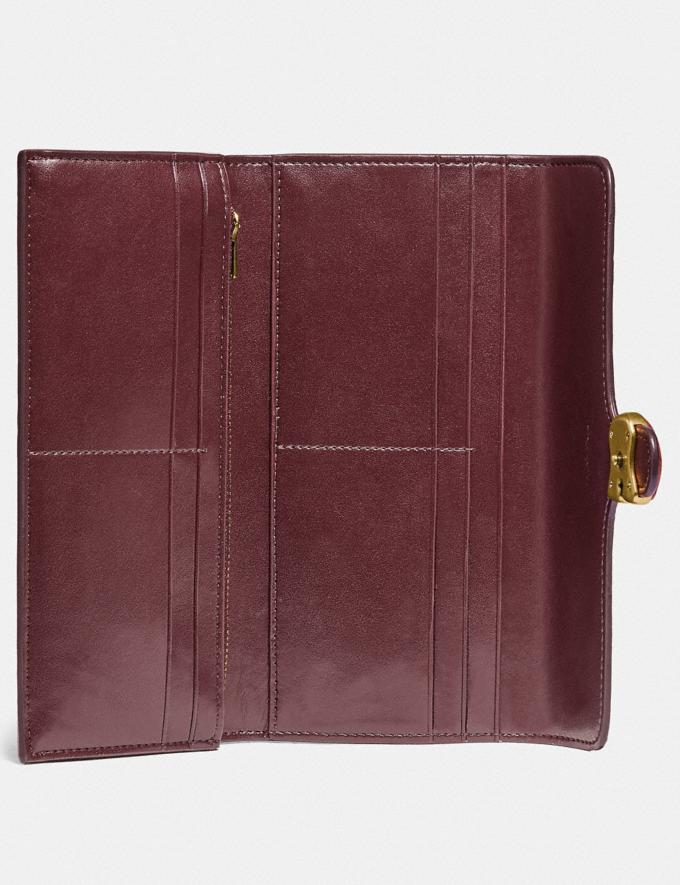 Coach Tabby Long Wallet Brass/Wine New Featured Lunar New Year Alternate View 1