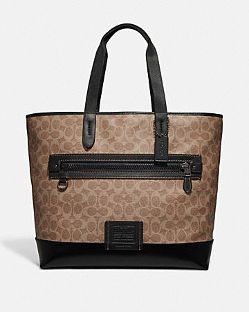 ACADEMY TOTE IN SIGNATURE CANVAS