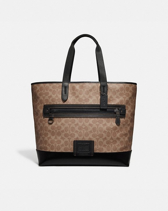 Coach ACADEMY TOTE IN SIGNATURE CANVAS