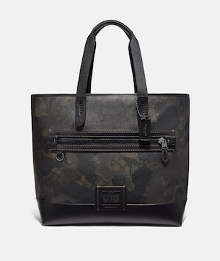 ACADEMY TOTE IN SIGNATURE CANVAS WITH WILD BEAST PRINT