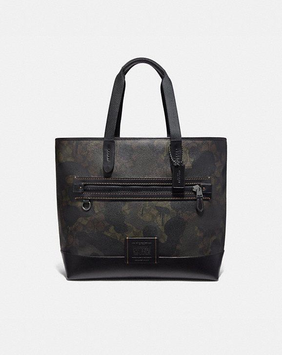 Coach ACADEMY TOTE IN SIGNATURE CANVAS WITH WILD BEAST PRINT