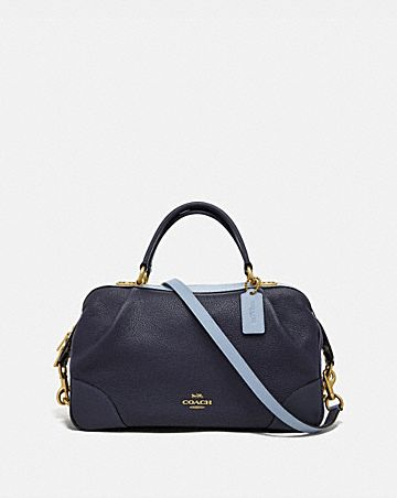 BOLSO SATCHEL LANE CON BLOQUES DE COLOR