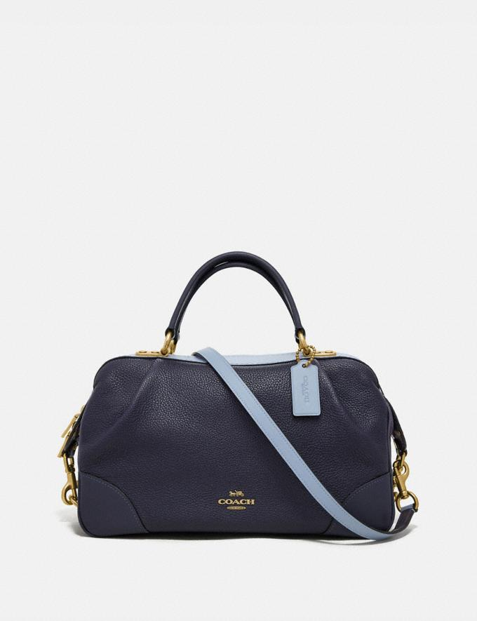 Coach Lane Satchel in Colorblock Ink Multi/Brass Women Bags Satchels
