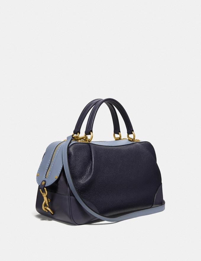 Coach Lane Satchel in Colorblock Ink Multi/Brass Women Bags Satchels Alternate View 1