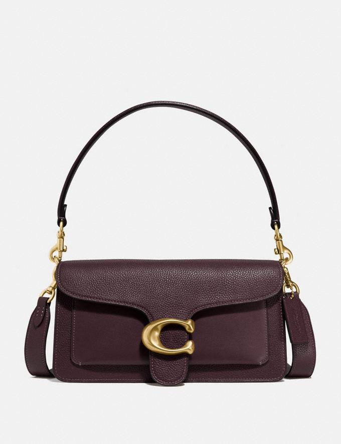 Coach Tabby Shoulder Bag 26 Brass/Oxblood Women