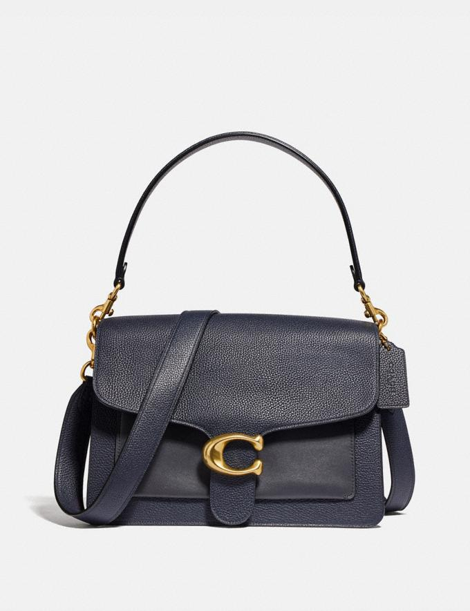 Coach Tabby Shoulder Bag Midnight Navy/Brass Women Bags Shoulder Bags