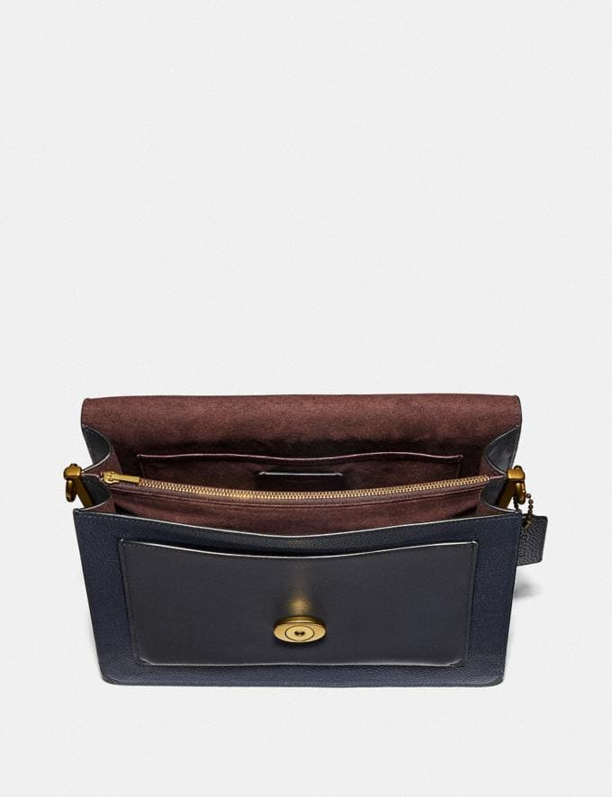 Coach Tabby Shoulder Bag Midnight Navy/Brass New Featured Online Exclusives Alternate View 2