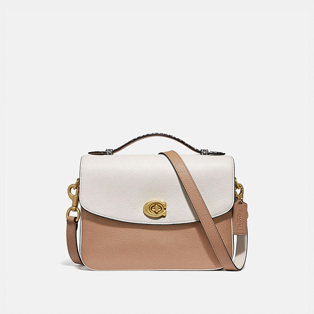 Cassie Crossbody In Colorblock With Snakeskin Detail by Coach