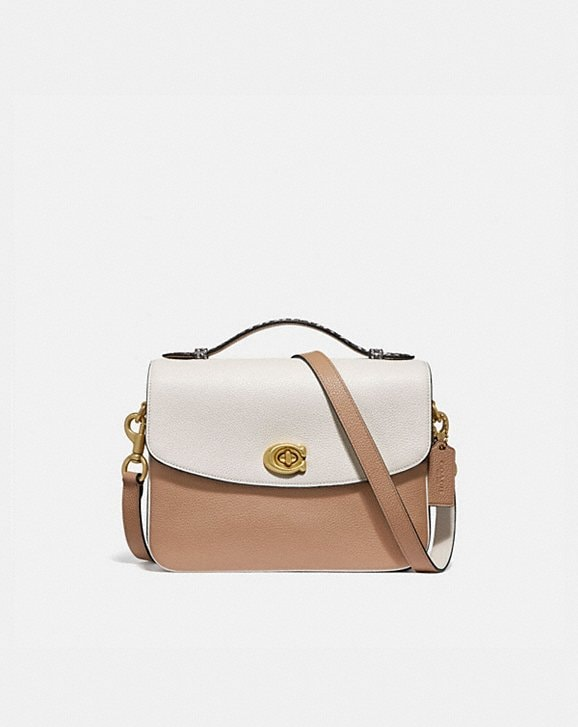 Coach CASSIE CROSSBODY IN COLORBLOCK WITH SNAKESKIN DETAIL
