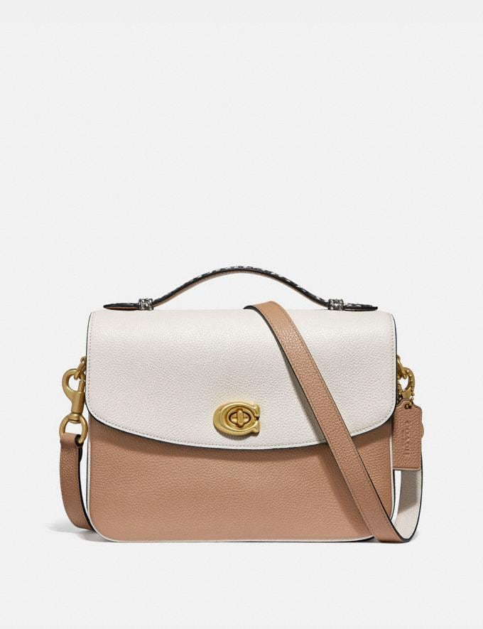 Coach Cassie Crossbody in Colorblock With Snakeskin Detail Chalk Multi/Brass Women Bags Crossbody Bags