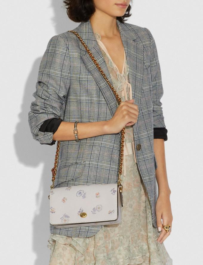 Coach Dinky With Meadow Prairie Print Brass/Chalk Women Collection Dinky Alternate View 4