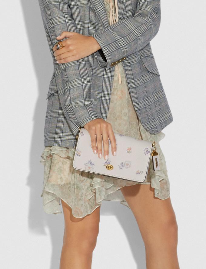 Coach Dinky With Meadow Prairie Print Brass/Chalk Women Collection Dinky Alternate View 5