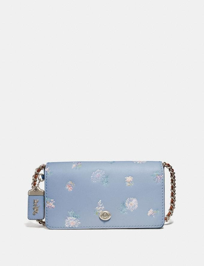 Coach Dinky With Meadow Prairie Print Silver/Mist SALE Ready, Set, Holiday Event Women's