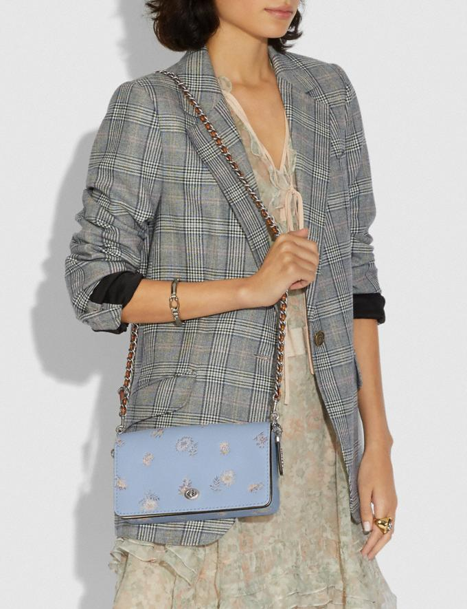 Coach Dinky With Meadow Prairie Print Silver/Mist SALE Ready, Set, Holiday Event Women's Alternate View 4